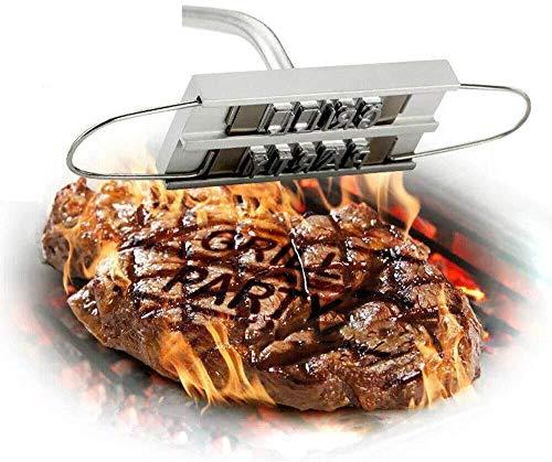 Grill Gadgets Grill Brandeisen,Grill-Brandeisen mit austauschbaren Buchstaben, Grillzubehör – perfekt für Steaks, Burger, Huhn, Fleisch
