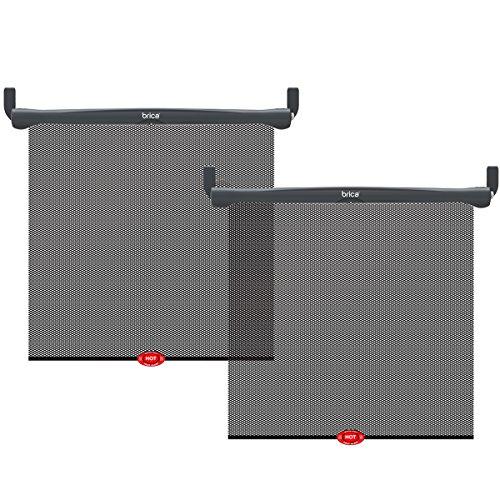 Brica by Munchkin Hot Auto-Sonnenschutzrollo, UV-Schutz und Hitzesensor, aufrollbar, 2er-Pack