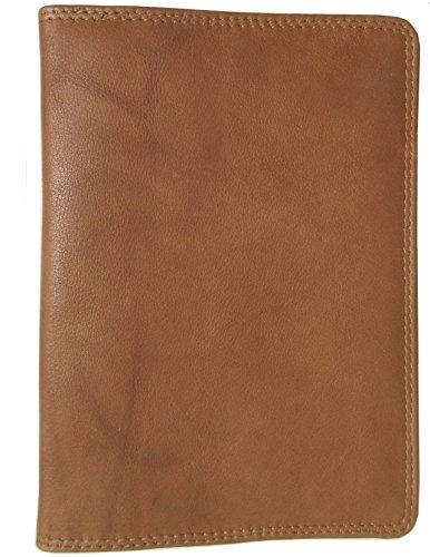 Josephine Osthoff Handtaschen-Manufaktur SOS großes Leder Ausweisetui Safari mit RFID Schutz Etui für Ausweise DIN A6 Handarbeit Behindertenausweis Natur