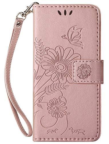 kazineer Hülle für Samsung Galaxy S20 FE, Leder Tasche Handyhülle für Samsung Galaxy S20 FE 4G/5G Schutzhülle Brieftasche Etui Case (Rose Gold)