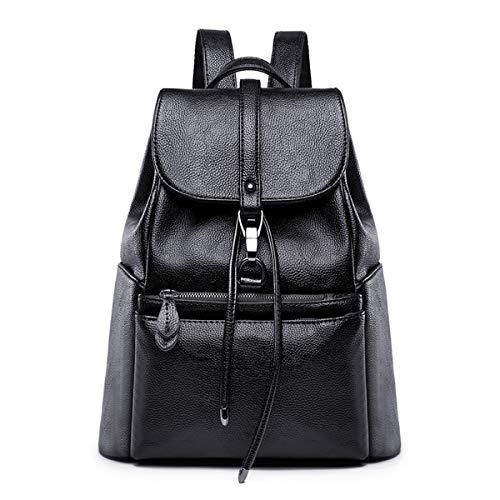 Tisdaini Damen Rucksackhandtaschen modische reise freizeit business Schultertaschen schulrucksack DE919 Schwarz