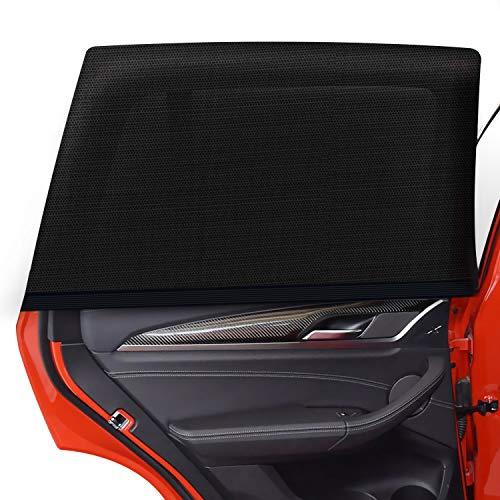 ZOOI Sonnenschutz Auto Baby mit UV Schutz - 2 Stück Auto Sonnenschutz Baby Autofenster Seitenfenster Windowsox, Sonnenblende Sonnenschutzrollo Auto Kinder UV Sonnenschutz (40 x 20 Inch)…