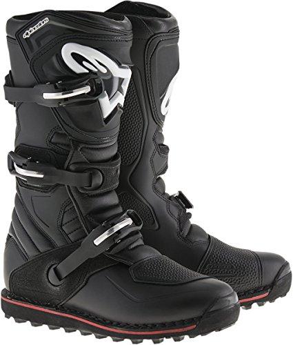 Alpinestars Herren Tech T Motocross-Stiefel, Schwarz/Rot, 13