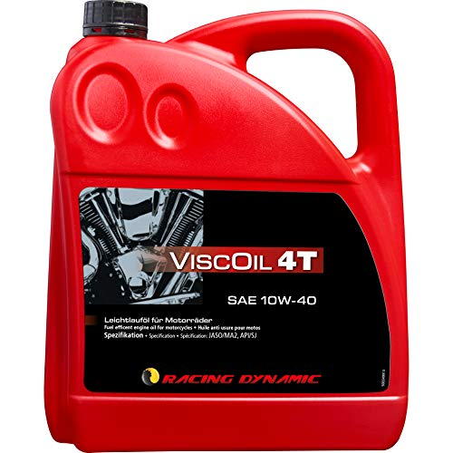 Racing Dynamic Motorrad-Motoröl 4-takt Motoröl Viscoil 4T SAE 10W-40 mineralisch 4000 ml, Unisex, Multipurpose, Ganzjährig