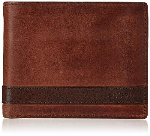 Fossil Herren Quinn ML3653 Geldbörse, Braun (Brown 200)