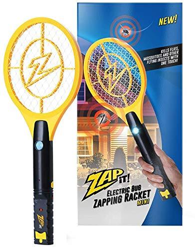 ZAP IT! Elektronische Fliegenklatsche, Wiederaufladbar über USB, gegen Mücken, Fliegen und Käfer, 4000 V, superhelles LED-Licht (Mini)