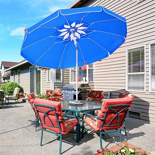 MOVTOTOP Sonnenschirm Balkon UV50+, Marktschirm Gartenschirm Terrassenschirm, Tragbarer Sonnenschutz Sonnenschirm für Balkon Garten Strand Camping