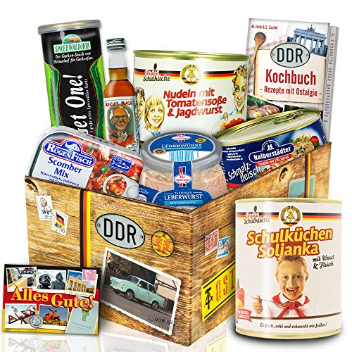 Herzhaft leckere DDR Geschenkbox - deftige DDR Waren - Ossi Geschenkset