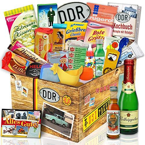 DDR 24tlg Geschenkbox mit Ost Produkten   DDR Geschenkset