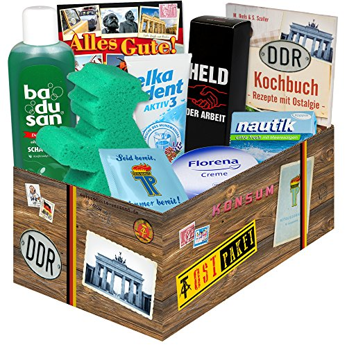 Geschenkset DDR / Pflege Box + Ostprodukte / Geschenk zum Geburtstag für Sie