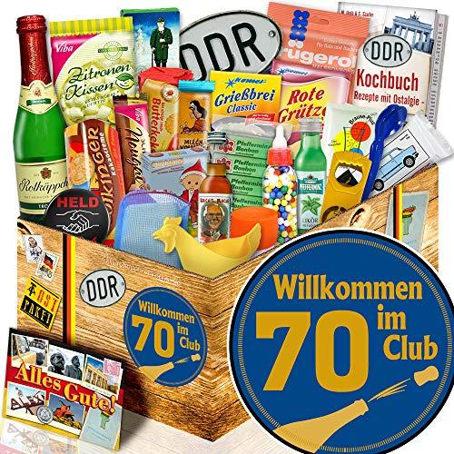 Wilkommen im Club 70 / 24 tlg. Geschenk Set DDR / Geschenke zum 70. Geburtstag
